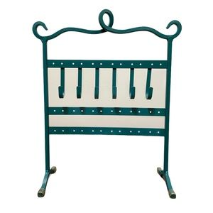 Jewelry Stand Organizer Holder Teal Color EUC